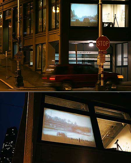 Drive-by video installation.