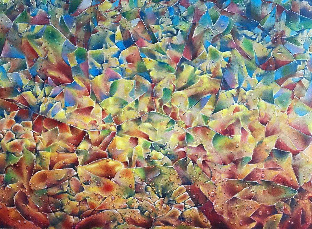 Fragments acrylic on canvas 32x40 2019