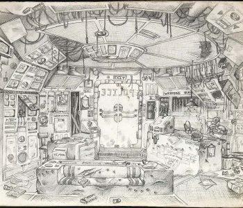 Sketchbook drawing 1983