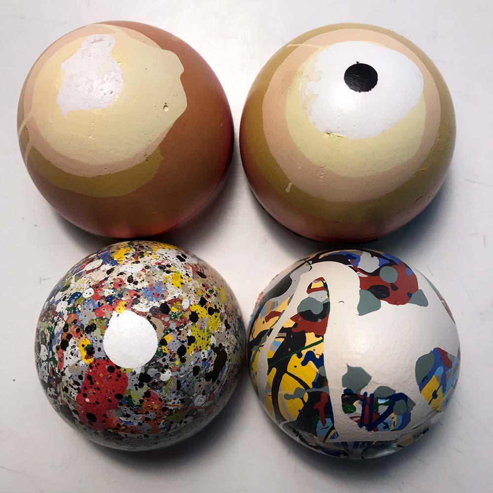 Four 2020 Eggs acrylic paint 2020