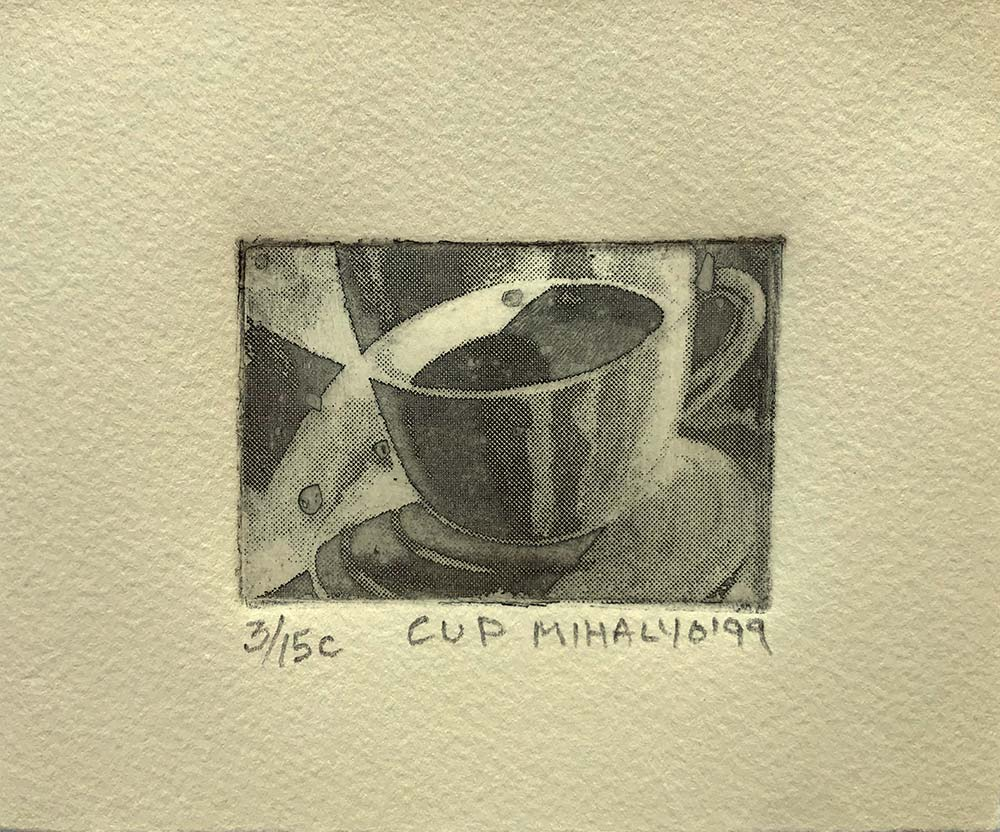 Cup Impression, ink on paper, 5.5×4.75, 1999