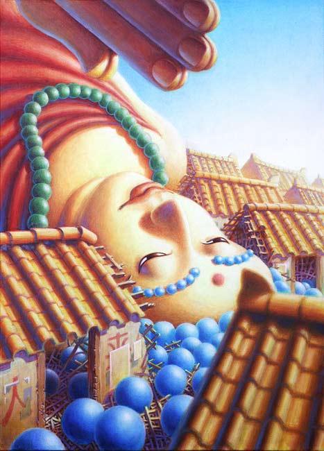 Fallen Buddha by Jeff Mihalyo